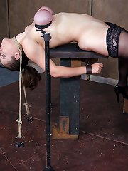 Sweet doll arched back with neck rope